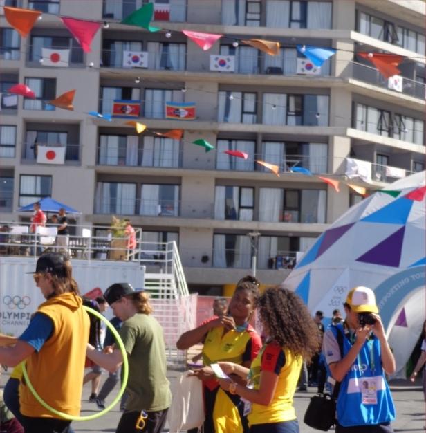 """El """"Media Day"""" para la prensa en la Villa Olímpica."""