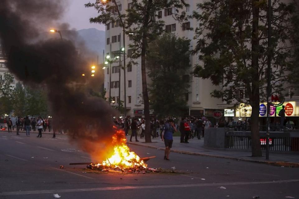 Tensión en Chile: Piñera declara el estado de sitio tras las protestas