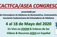 Congreso virtual sobre Atletismo a través de la plataforma Zoom del 4 al 18 de Mayo.