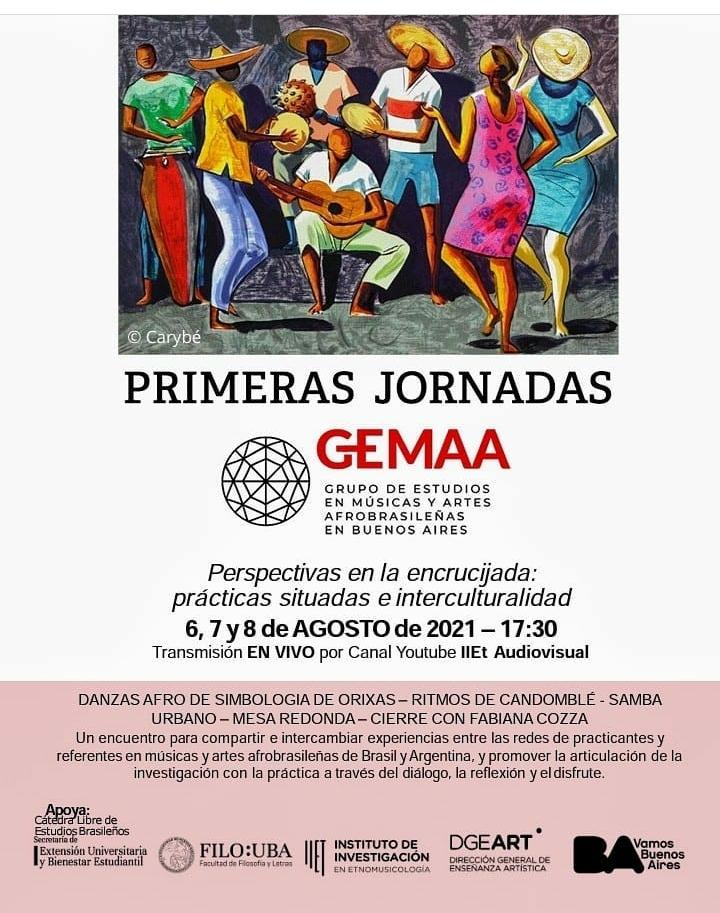 Primeras Jornadas del Grupo de Estudios en Músicas y Artes Afrobrasileñas en Buenos Aires