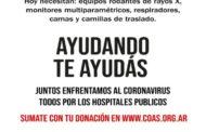 Campaña de COAS en apoyo a los hospitales públicos