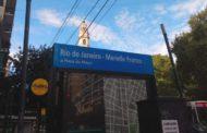 Un homenaje a Marielle Franco en el subte porteño, intervención de la estación y una placa conmemorativa.