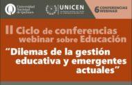 Comienza el II Ciclo de conferencias webinars sobre educación